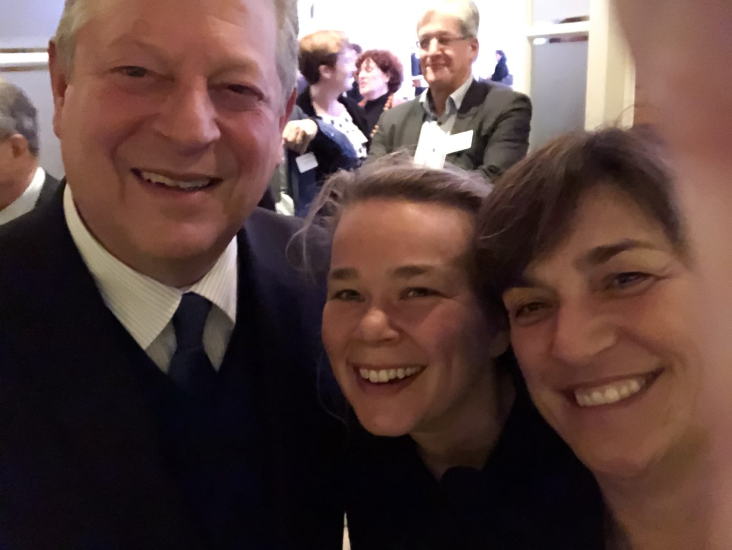selfie with Hermance van Dijk and Al Gore